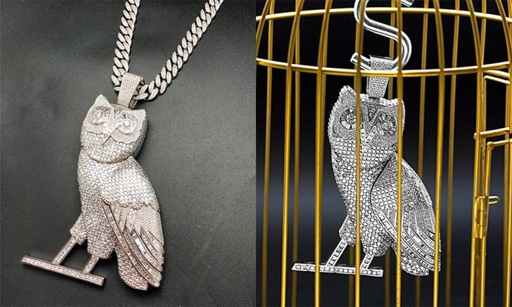 The experts say Drake's new diamond jacket will complement perfectly with his 100-carat diamond owl necklace.